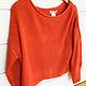 Main Strip Apparel Orange Boat Neck Bubble Sleeve Sweater