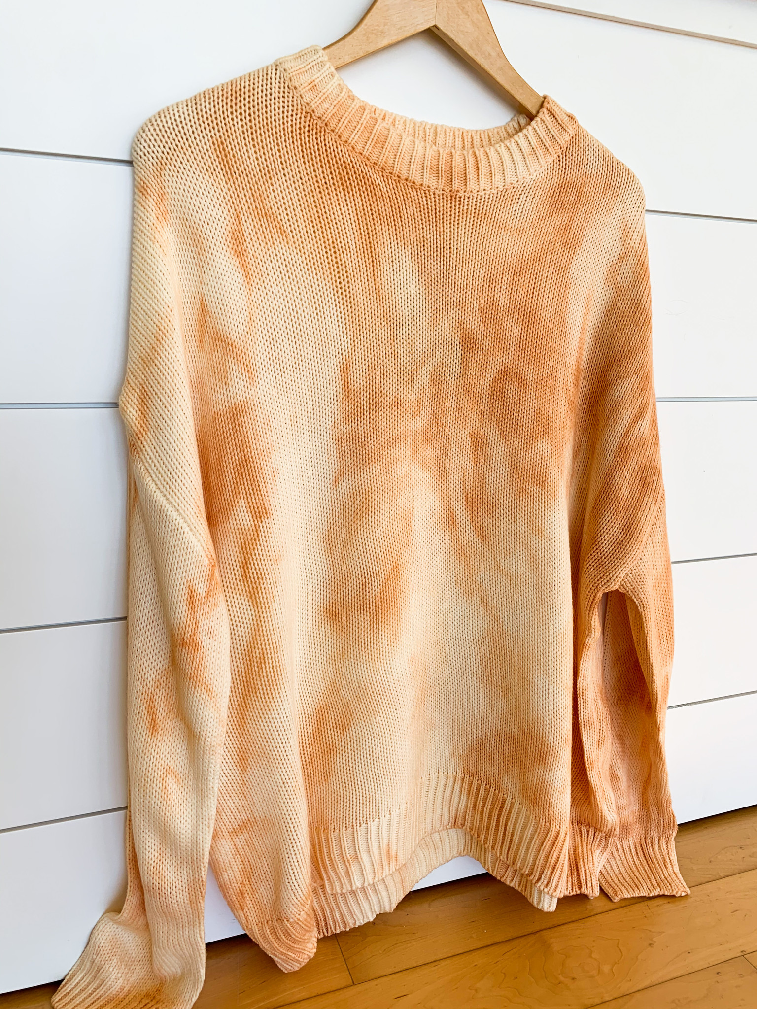 Main Strip Apparel Apricot Oversize Tie Dye Sweater