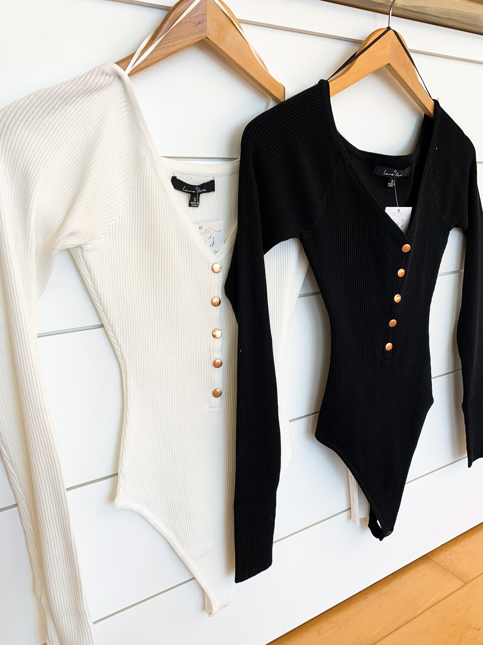 Button Down Long Sleeve Bodysuit