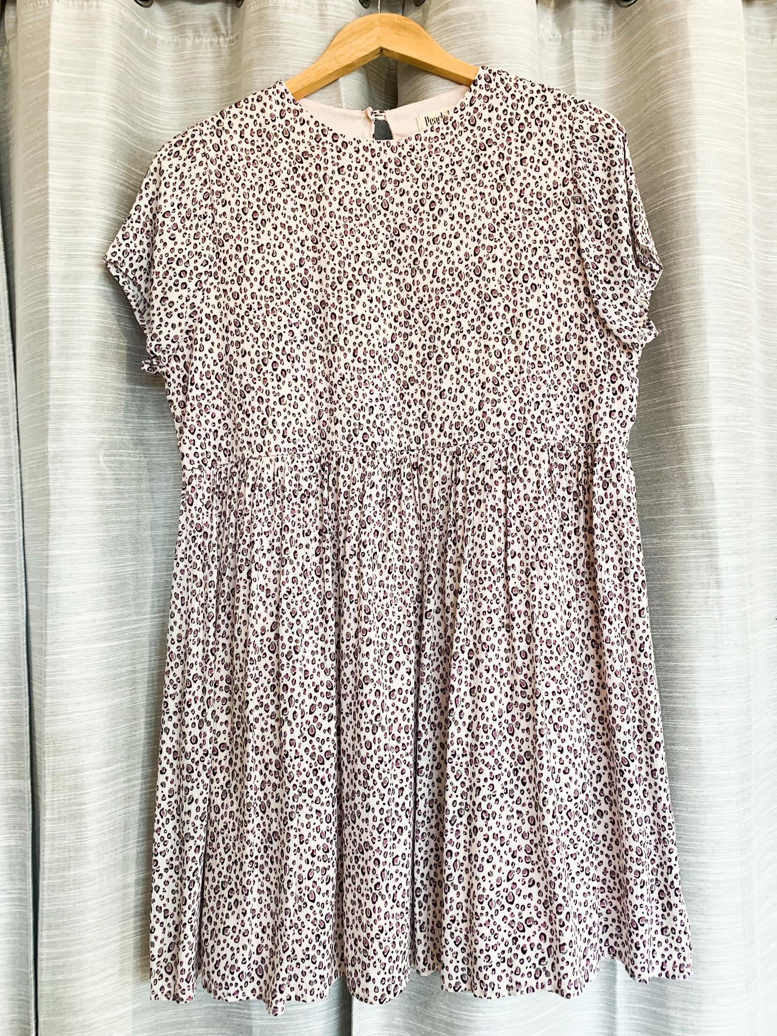 Blush Burgundy Animal Print Dress