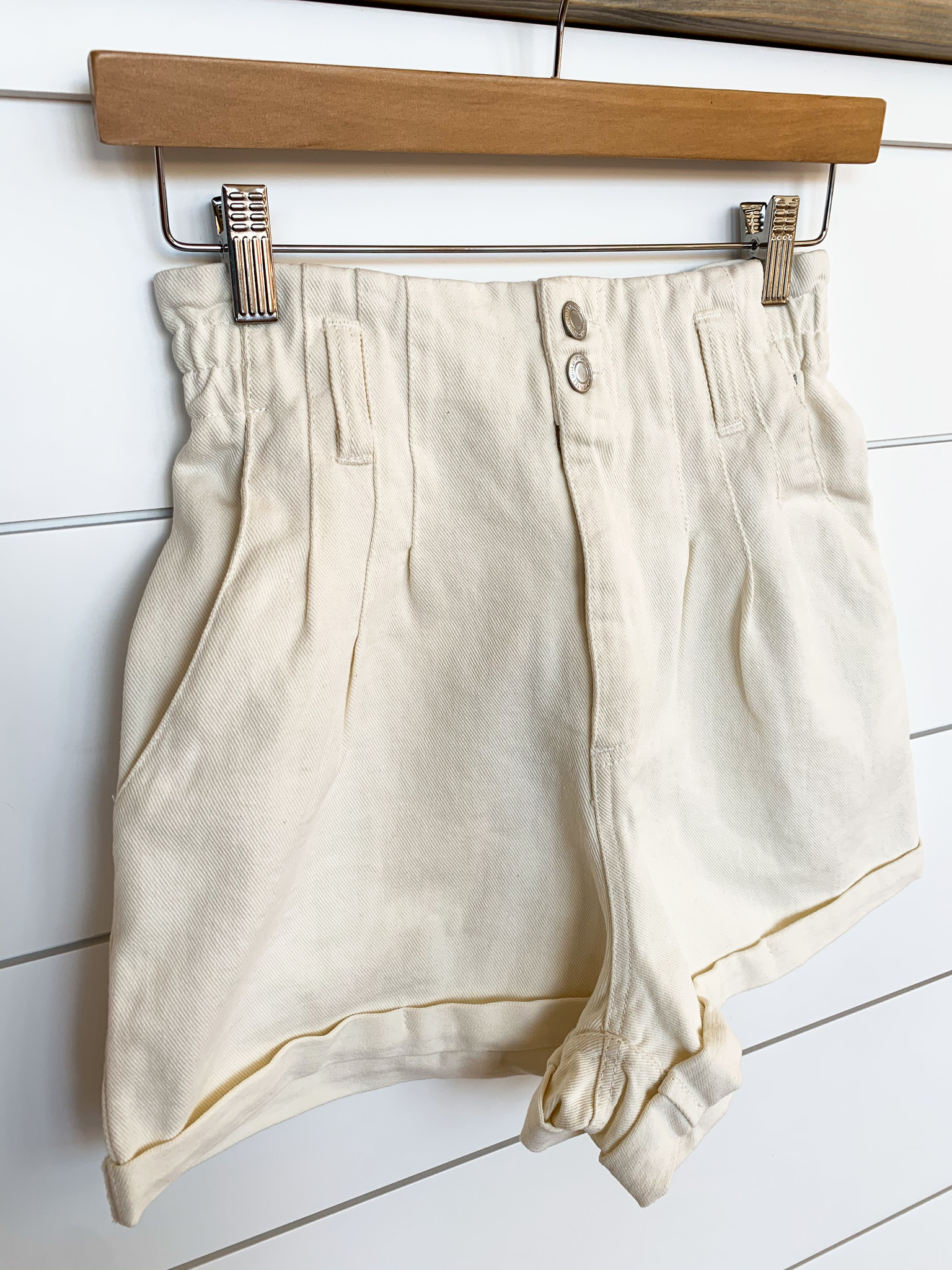Mineral Washed High Waist Shorts