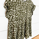 Andree by Unit Olive Leopard Babydoll Top