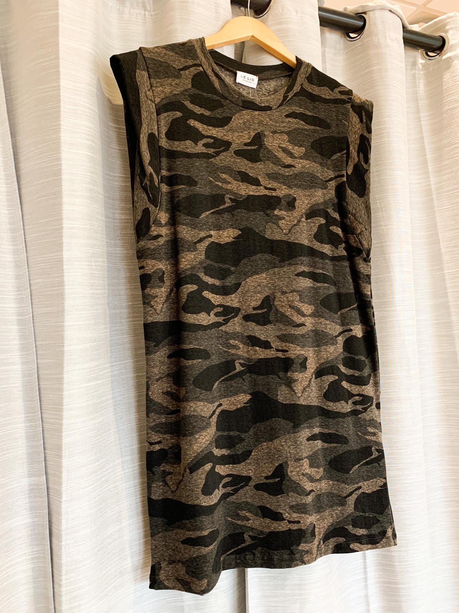 Olive/Black Muscle Tee Dress