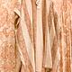 Cream/Mauve Linen Stripe Kimono