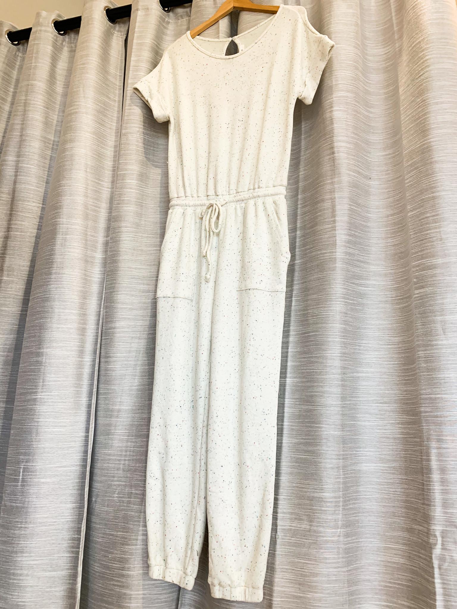 Confetti Multi Short Sleeve Jumpsuit