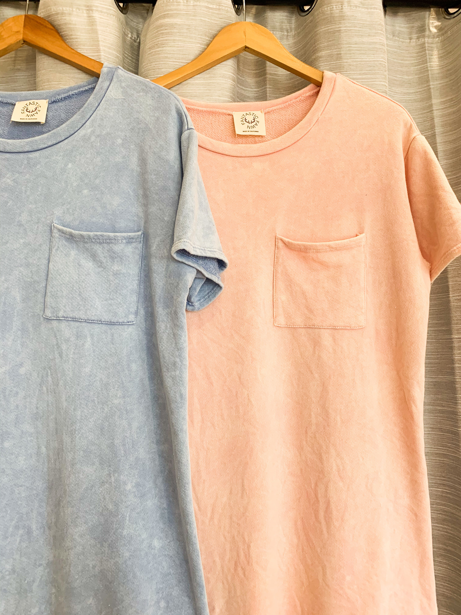Short Sleeve Mineral Washed T-Shirt Dress