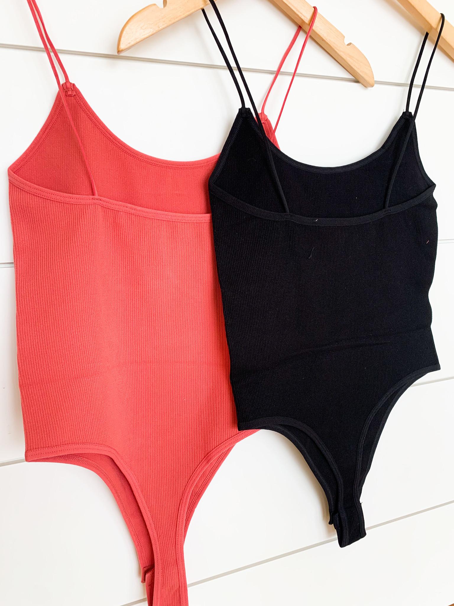 Rib Knit Cami Bodysuit