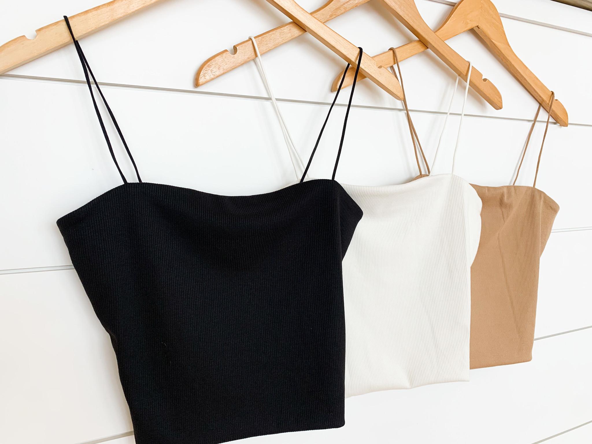 Basic Rib Knit Cami Top