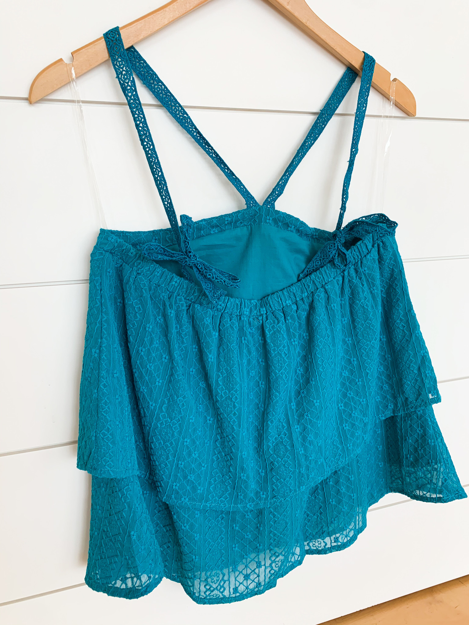 Emerald Double Layered Halter Neck Top