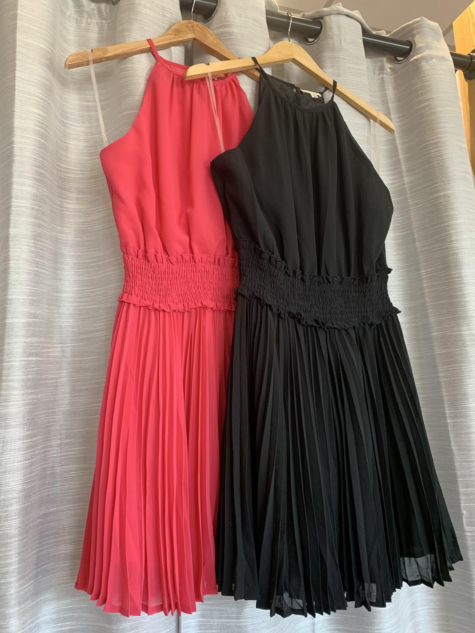 Round Neck Waist Smocking Dress