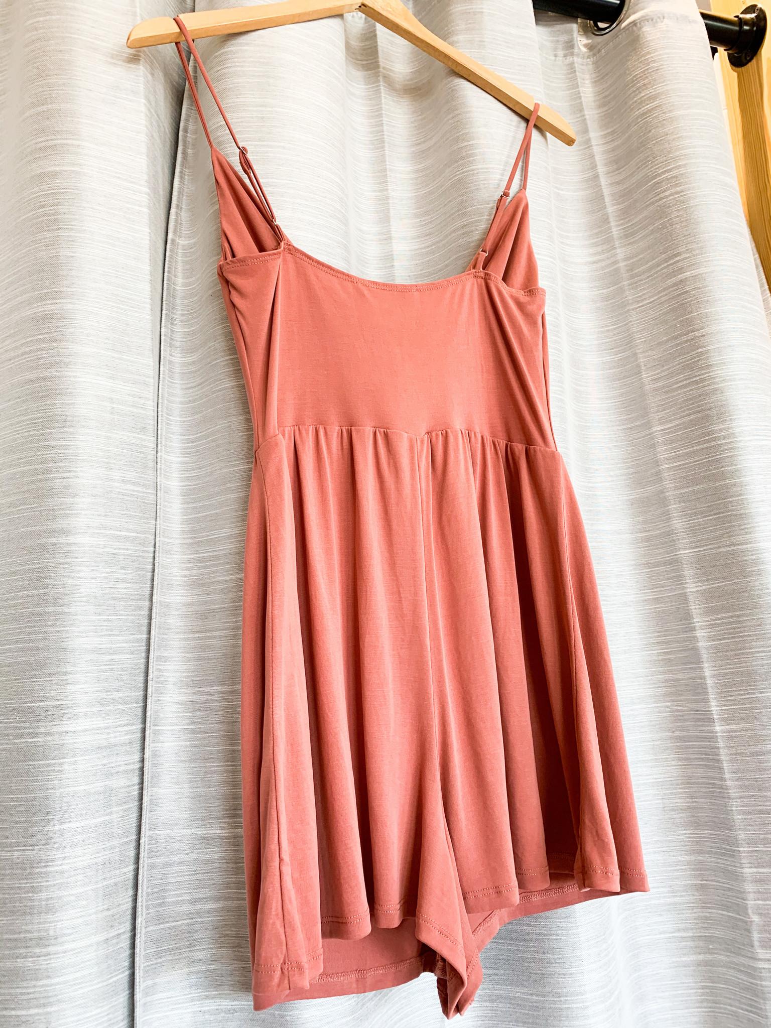 Terracotta Knit Solid Romper