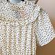 Ivory/Black Elastic Waist Short Sleeve Dress