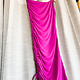 Purple One Shoulder Side Ruched Bodycon Dress
