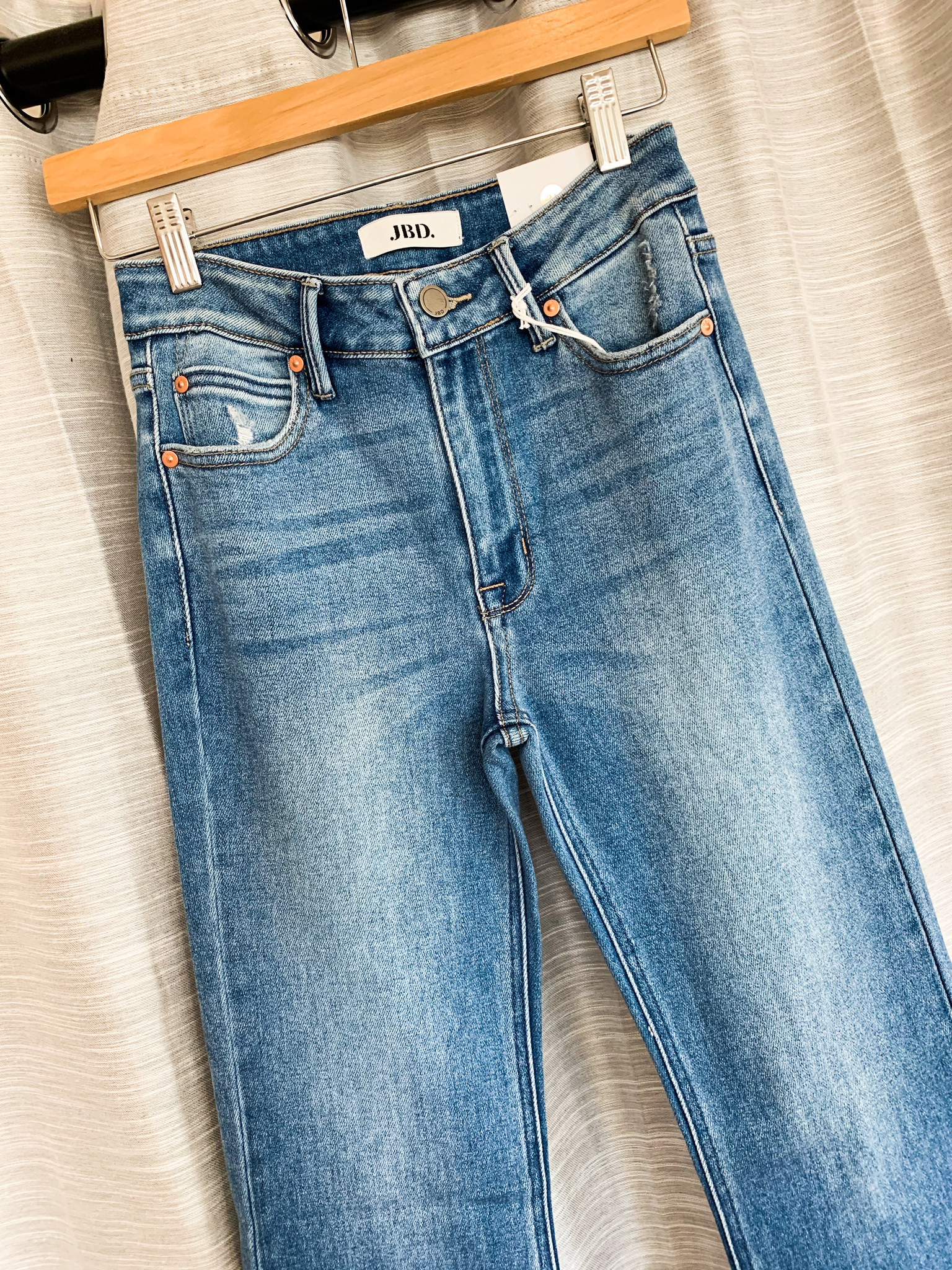 High Rise Flare - Medium Denim
