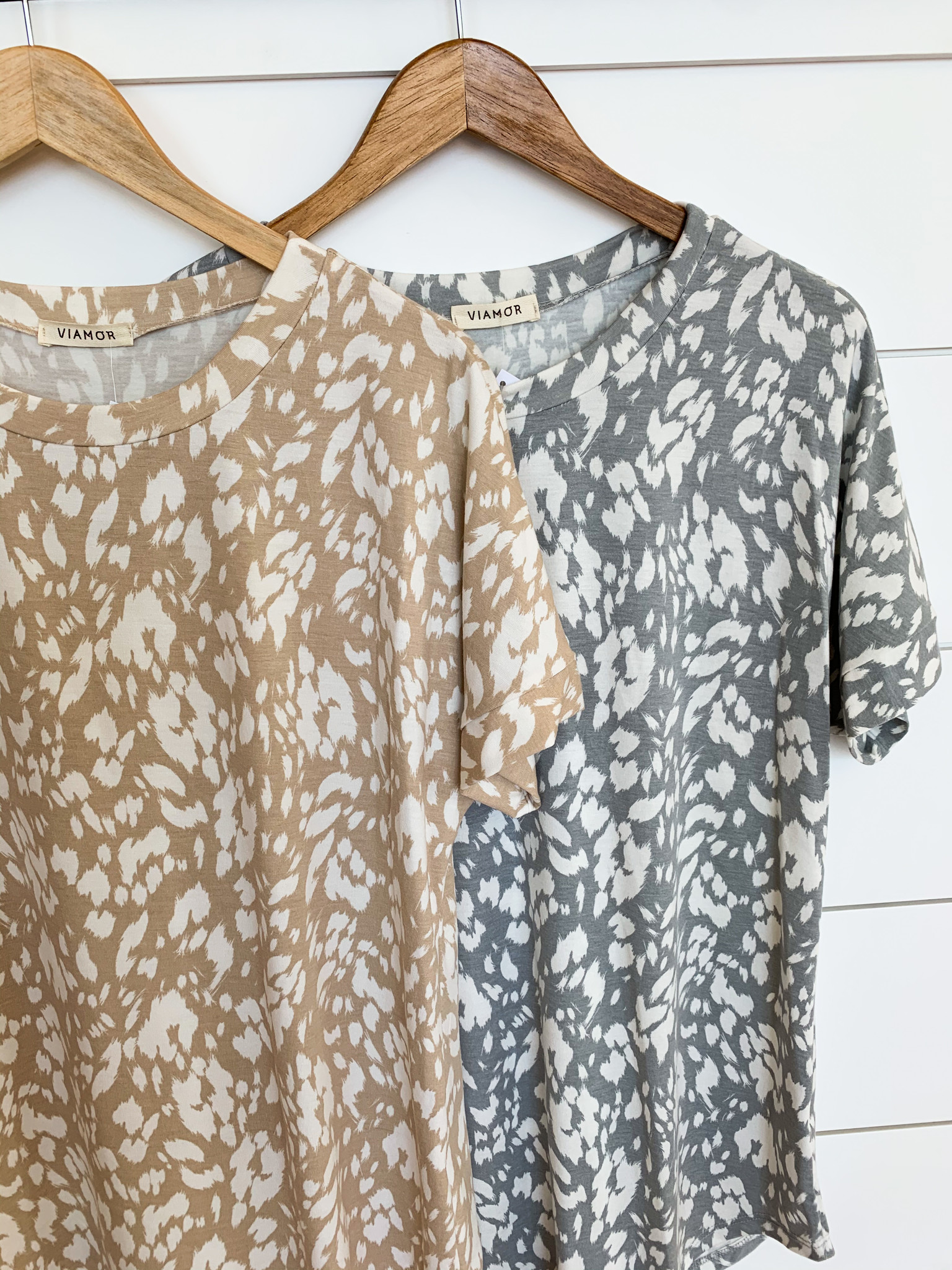 Drop Shoulder Animal Knit Tunic