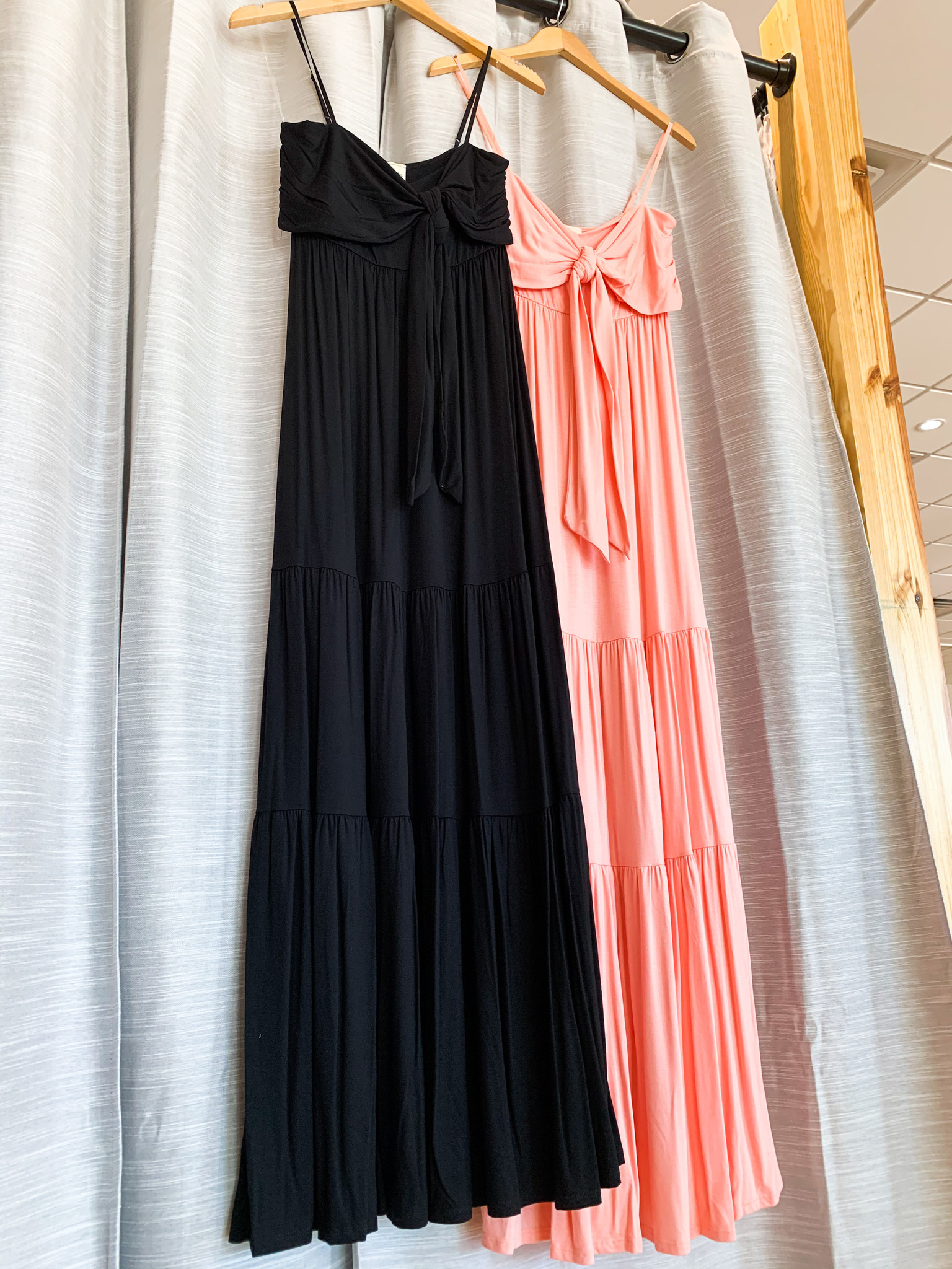 Tiered Cami Maxi Dress with Front Tie