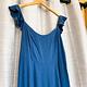 Slate Blue Flutter Sleeve Jumpsuit