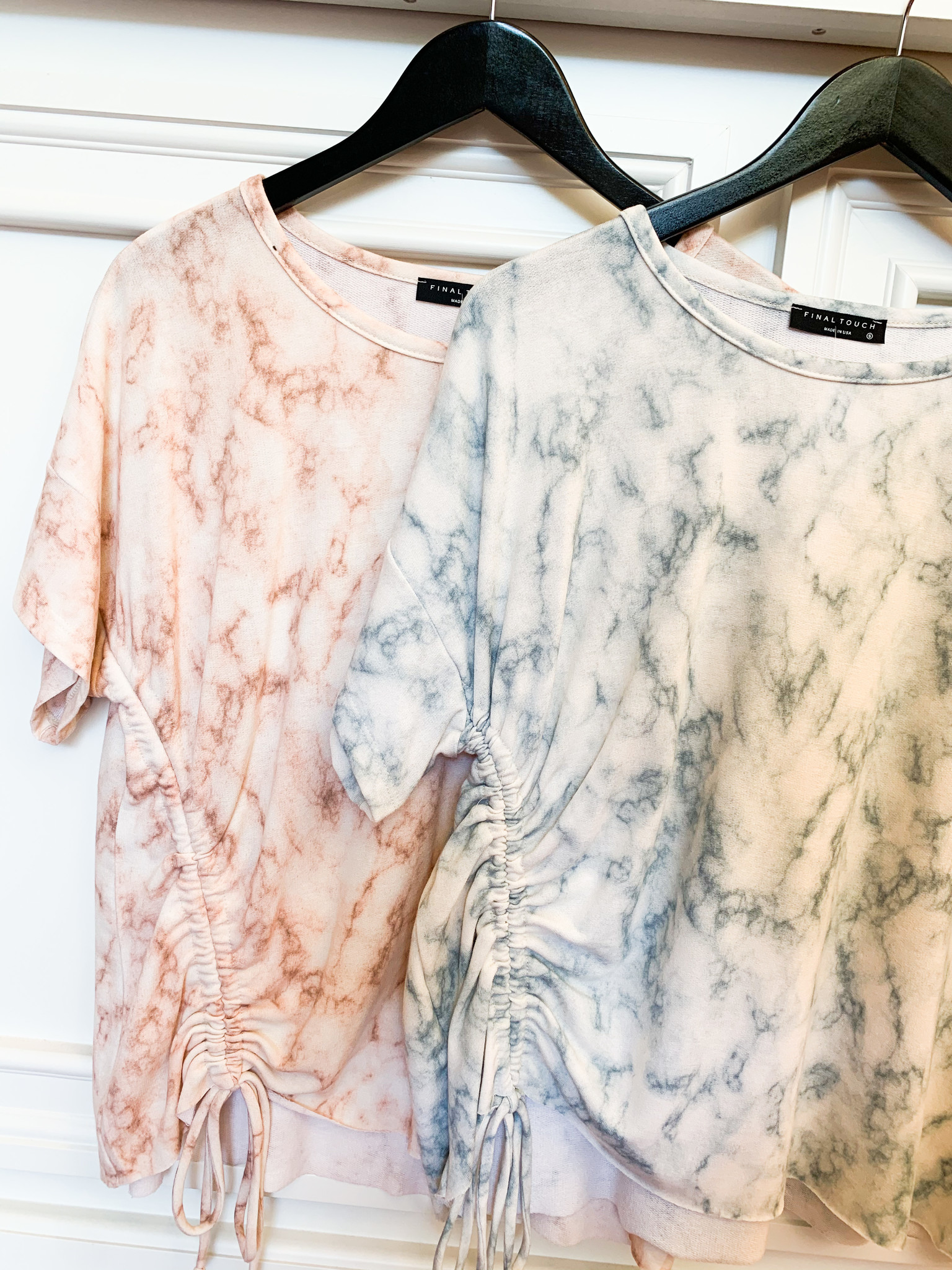 Marble Relaxed Short Sleeve Top