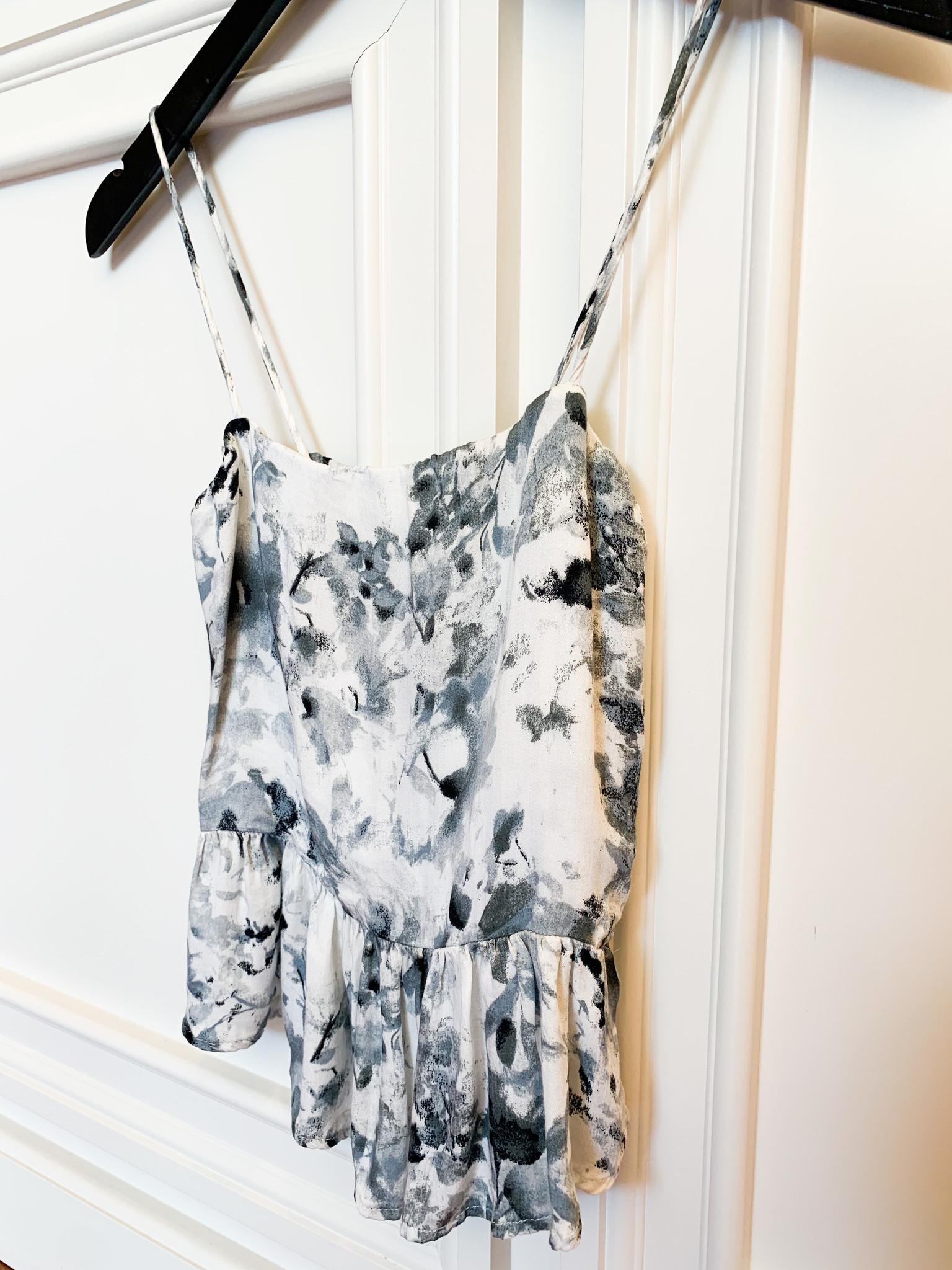 Gray Combo Watercolor Cami Top
