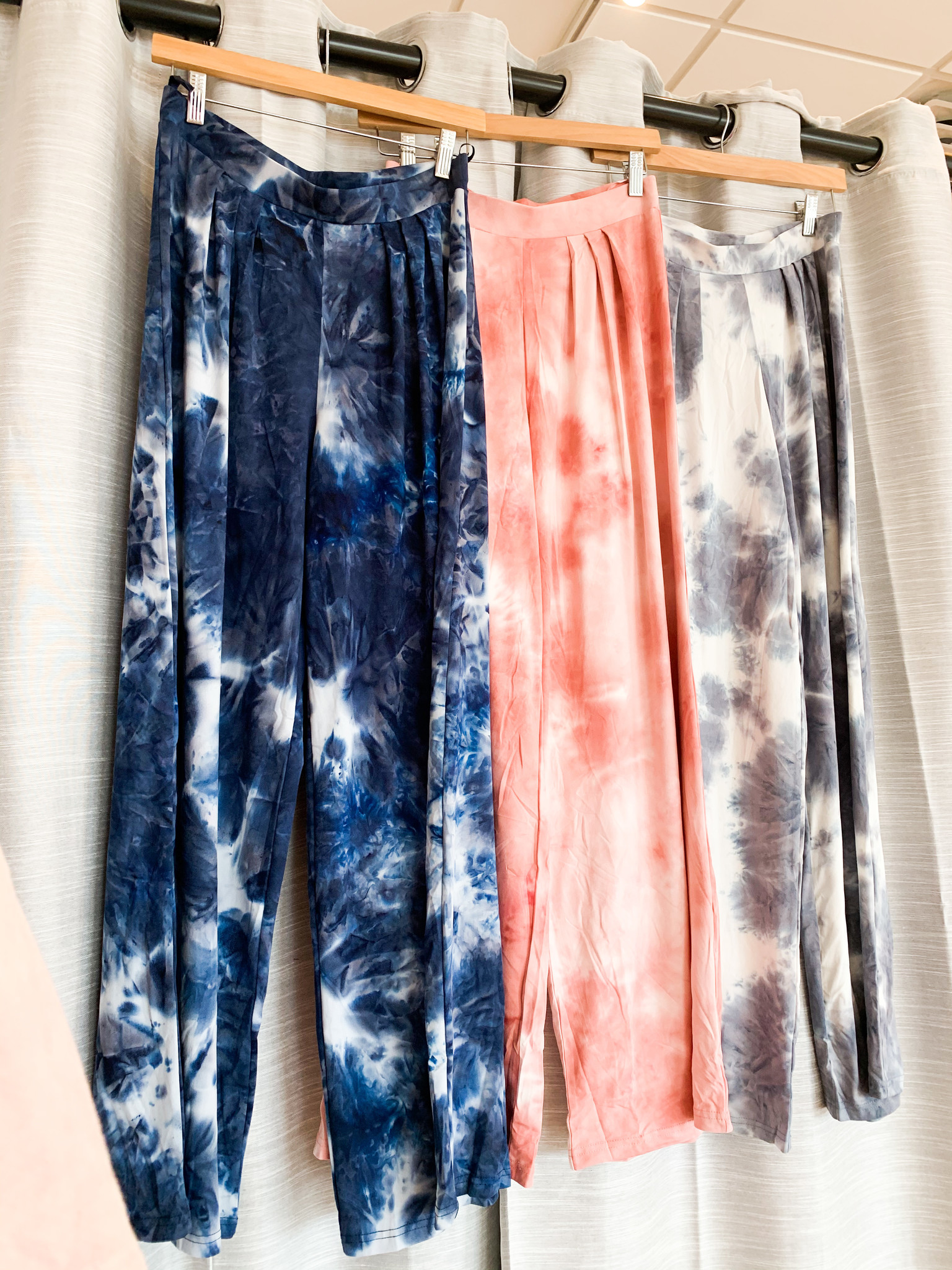 Wide Leg Tie Dye Pants