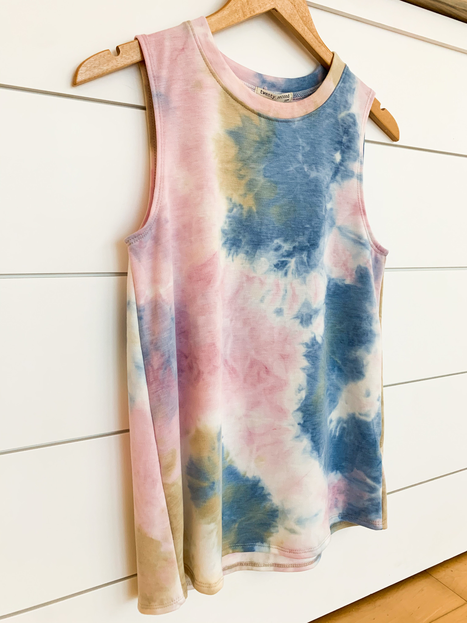 Lavender/Blue Tie Dye Sleeveless Top