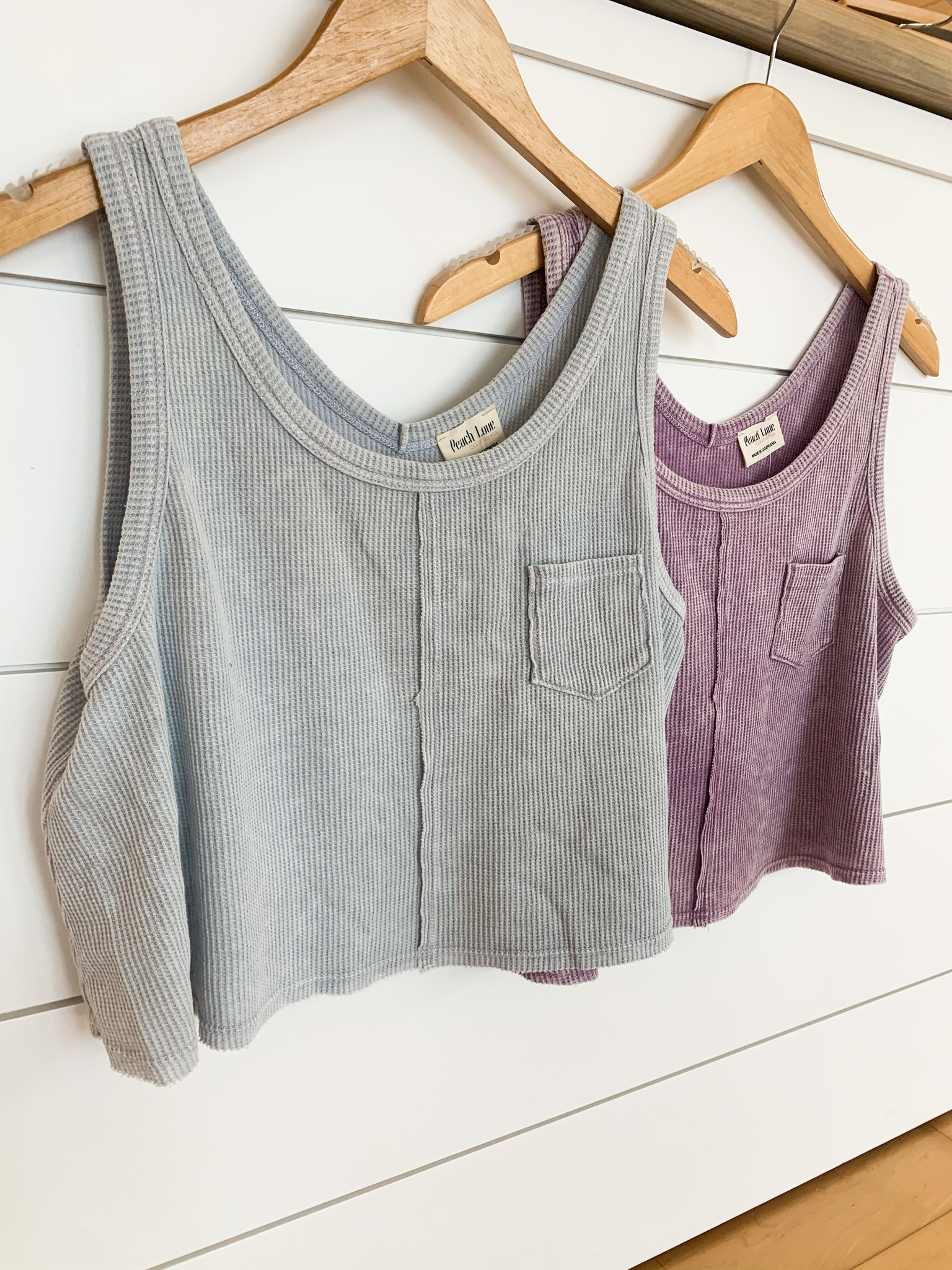 Sleeveless Thermal Knit Crop Top