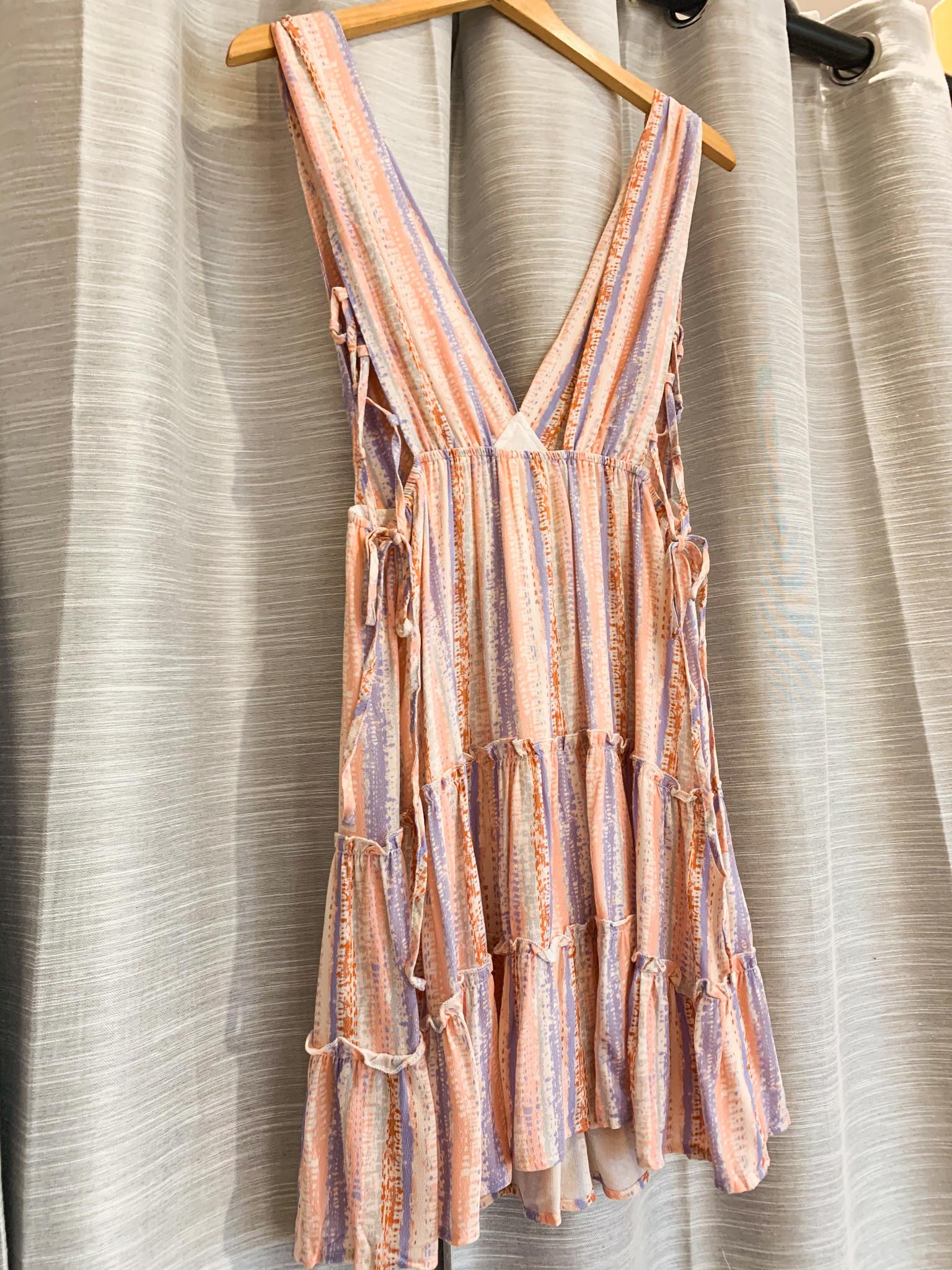 Blush Low V Neck Side Lace Dress