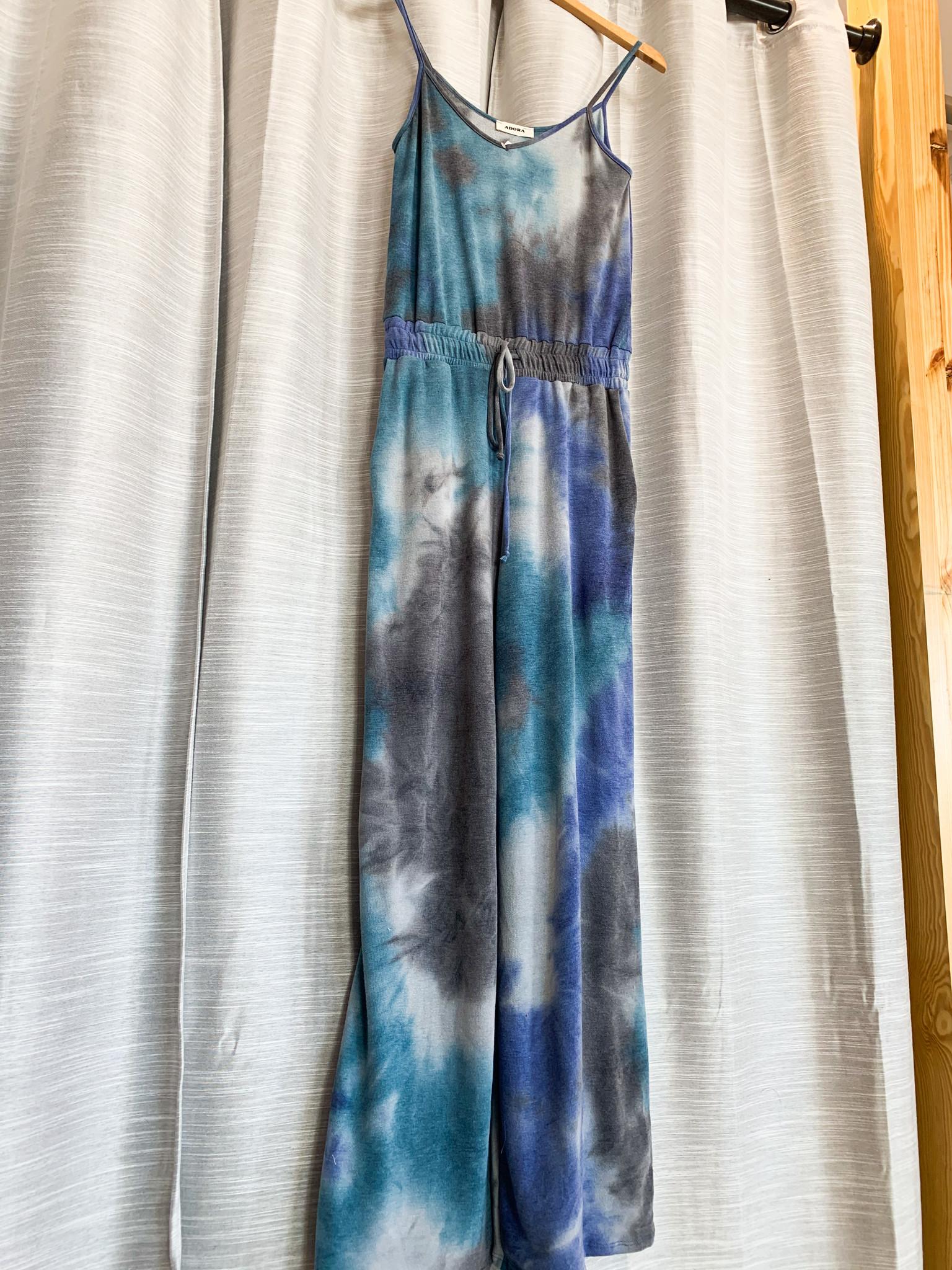 Royal Blue Tie Dye Jumpsuit