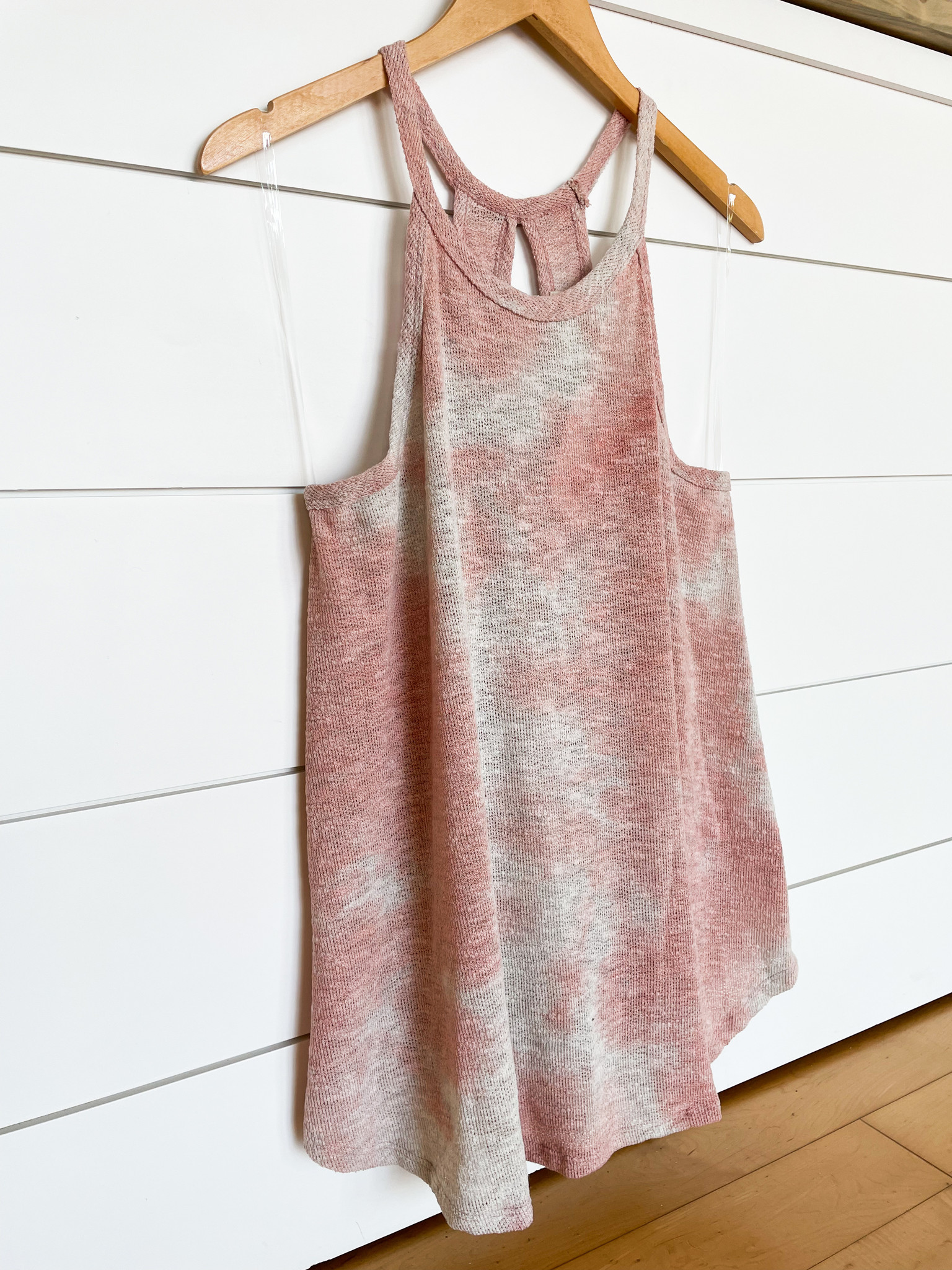 Mauve Tie Dye Open Back Sleeveless Top
