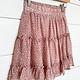 Blush Ruffled Tiered Skirt