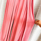 Coral Rayon Gauze Front Long Slit