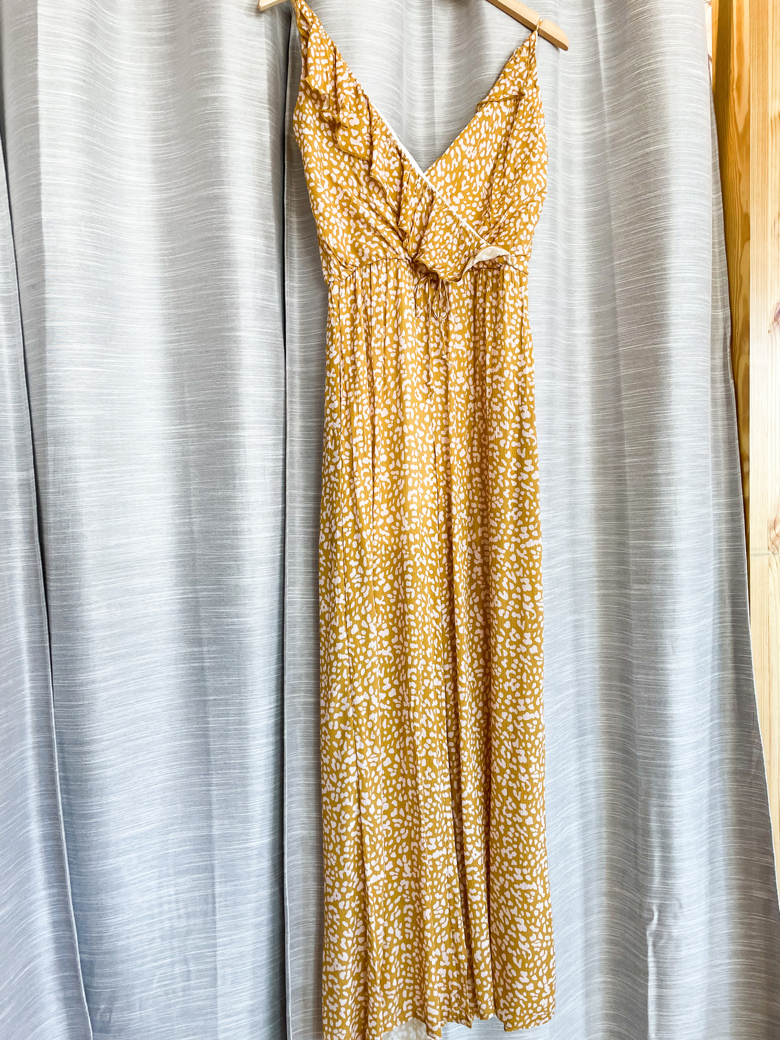 Caramel/Blush Printed Wide Leg Jumpsuit
