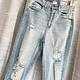 Medium Light Distressed High Rise Jeans