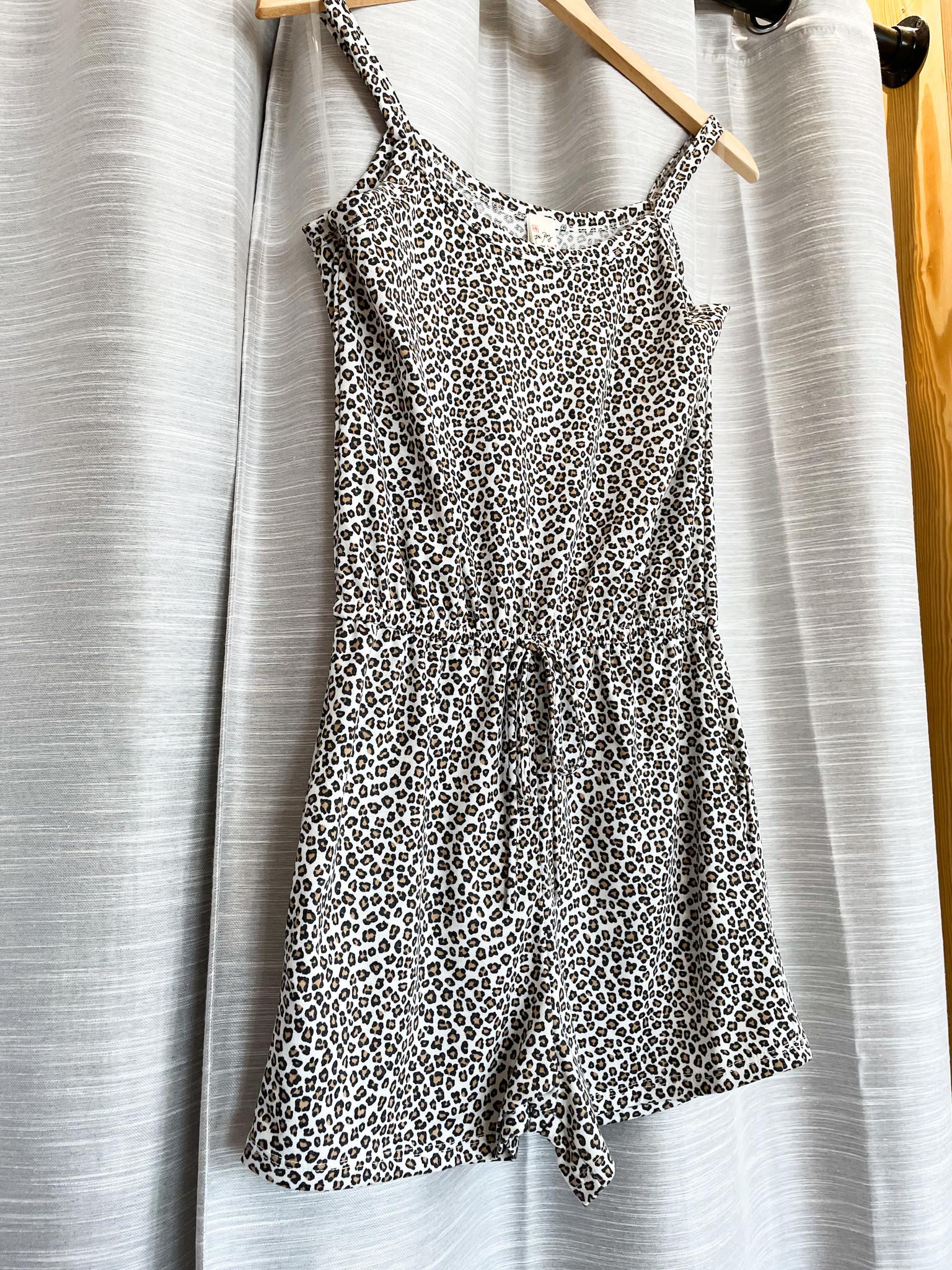 Urban Chic Ivory Leopard Waist Tie Romper