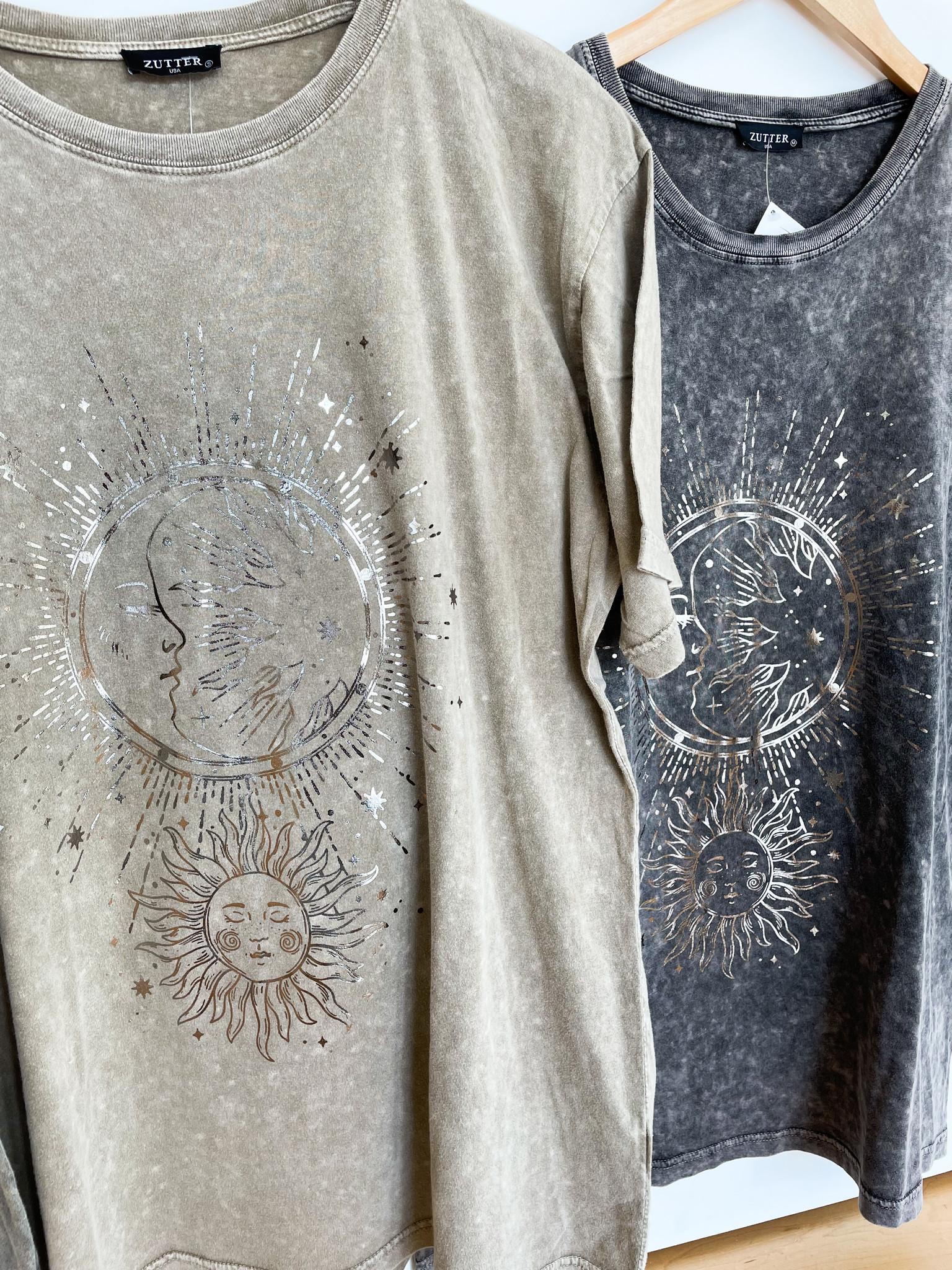 Sun & Moon Celestial Graphic Tee