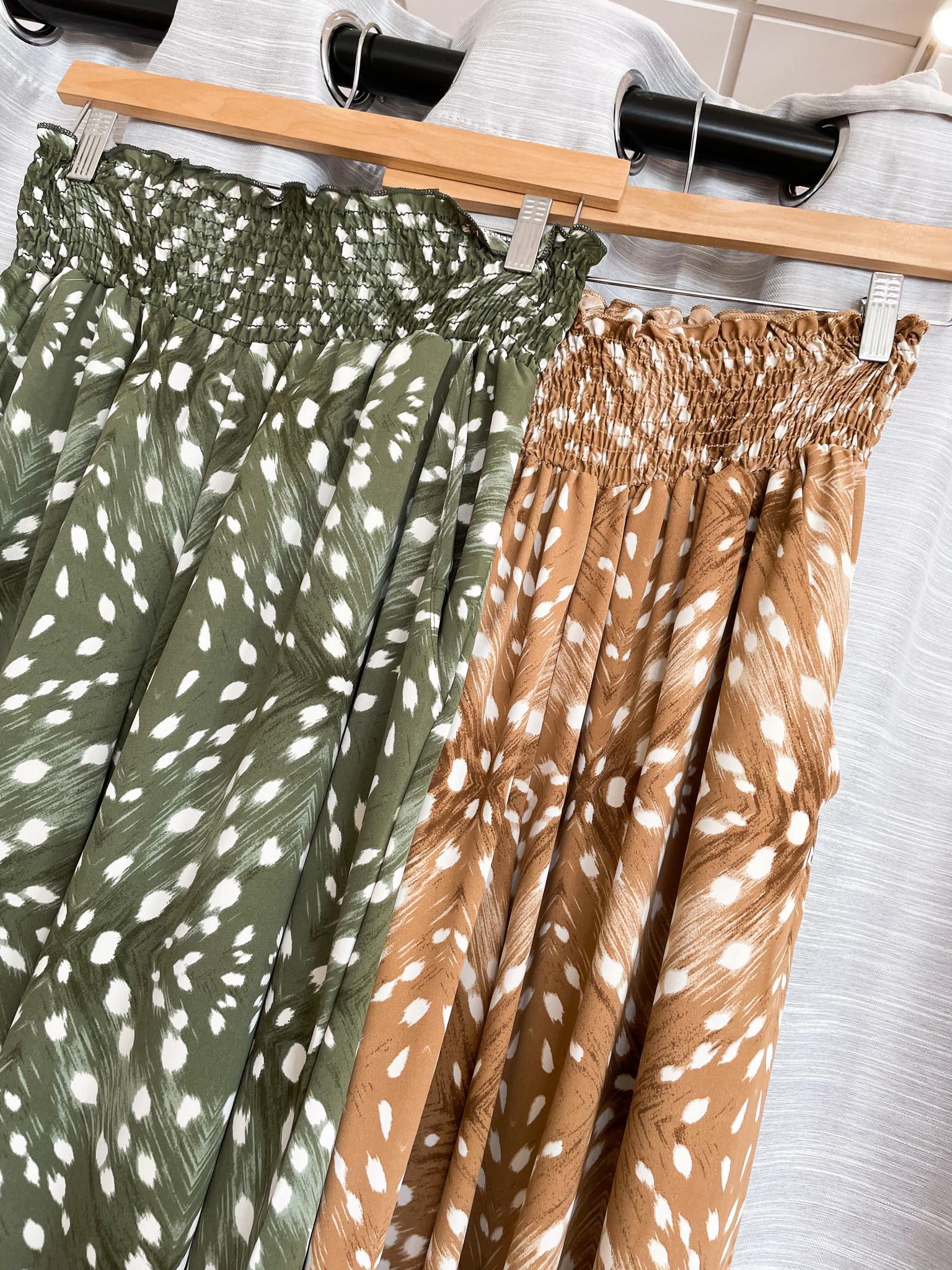 Multi Printed Smocked Waist Maxi Pants