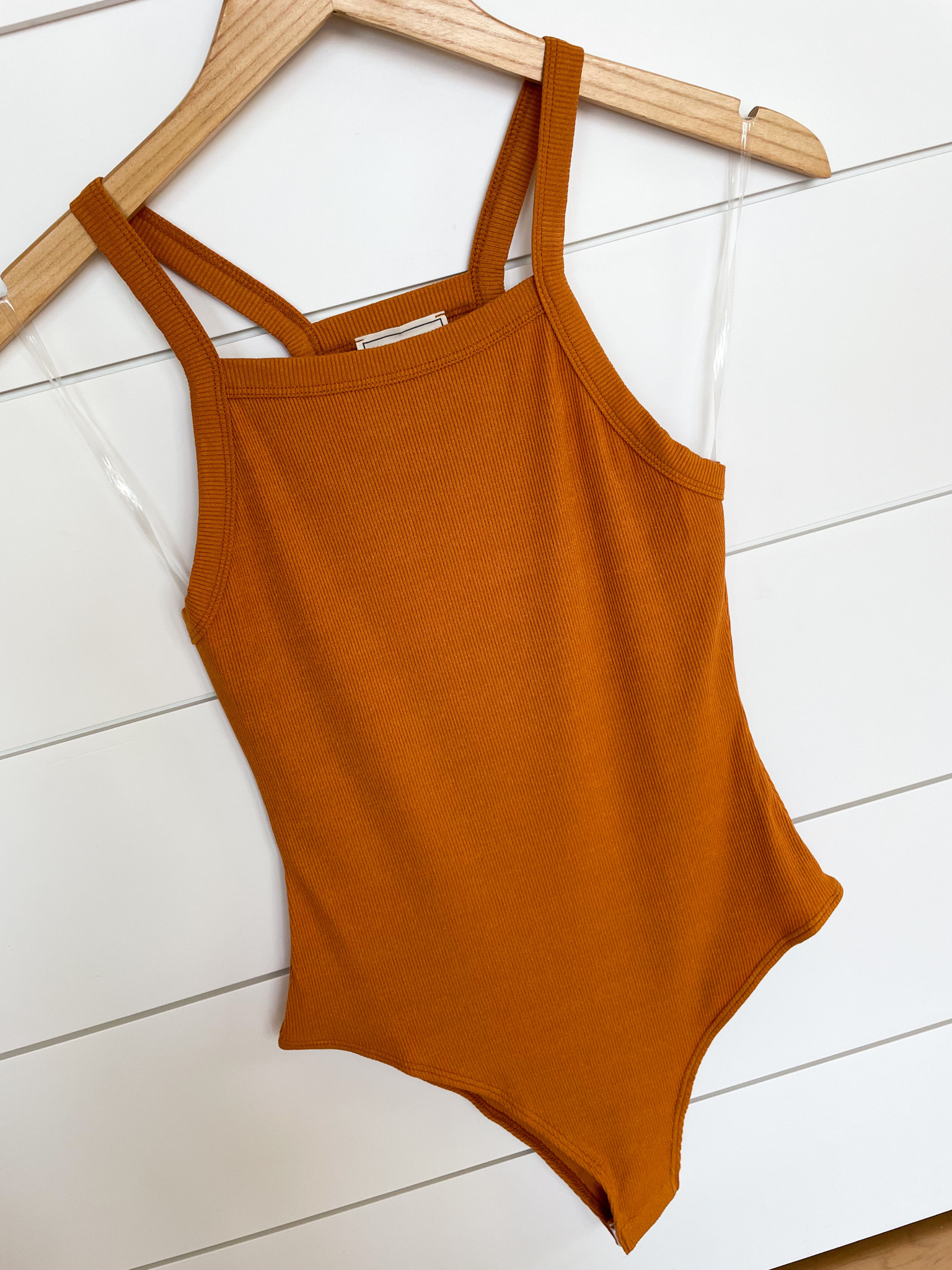 Ginger Spice Ribbed Bodysuit