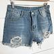 Light Wash Distressed Denim Shorts