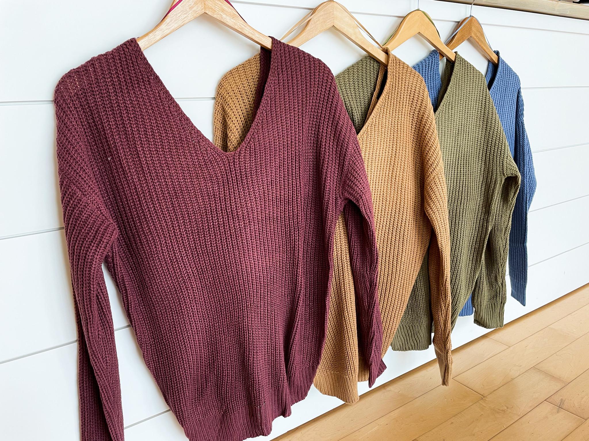 Twist Back/Open Back Sweater