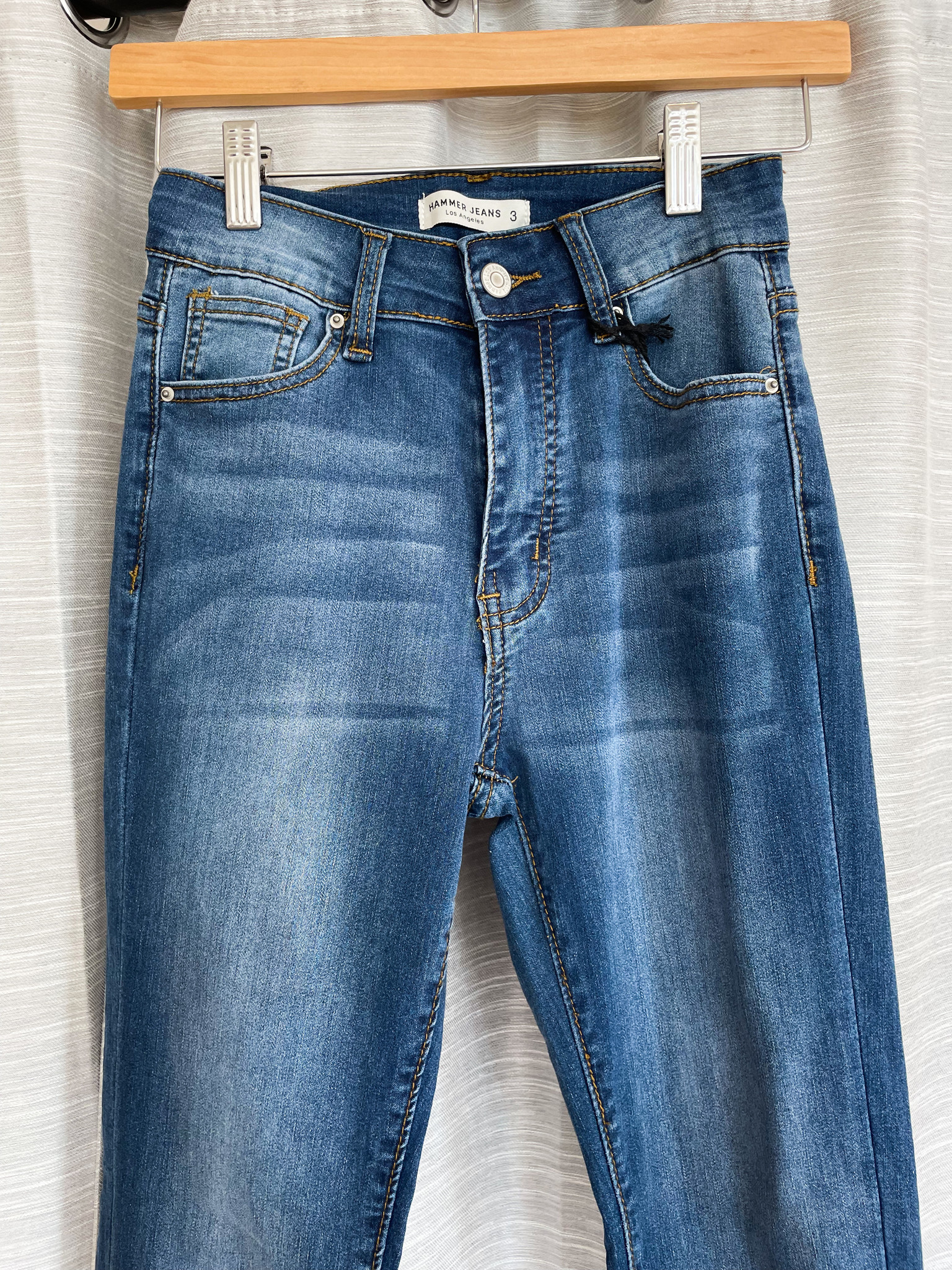 Medium Blue High Rise Skinny Jean