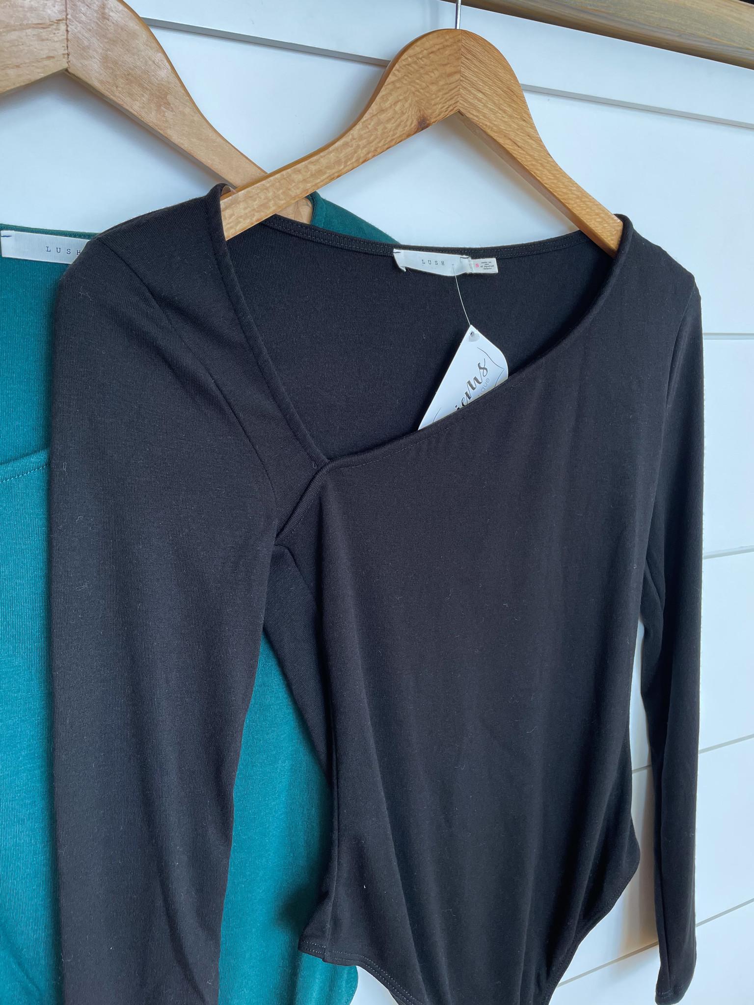 Assymetrical Cut Out Bodysuit