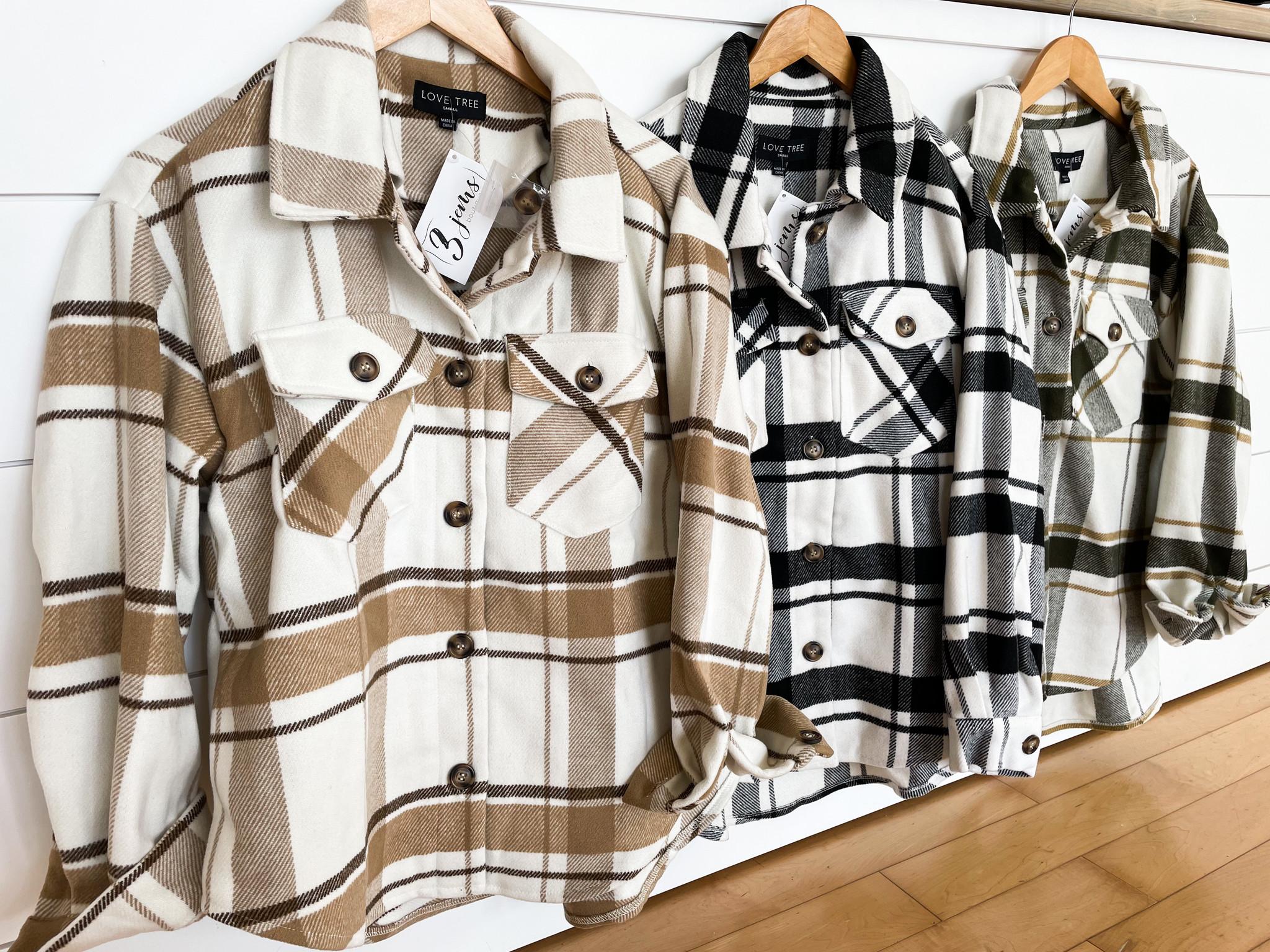 Plaid Long Jacket