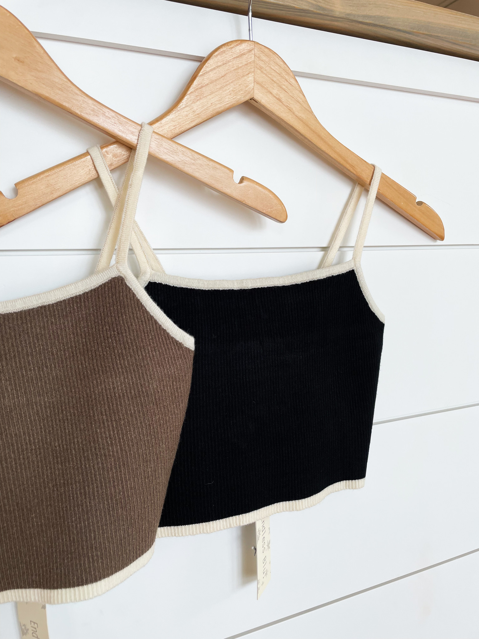Two Strap Knit Sweater Cami Top