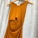 Camel Cut Out Midi Dress