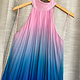 Ombre High Banded Neck Maxi Dress