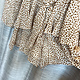 Dalmatian Print Chiffon Drawstring Tie Romper