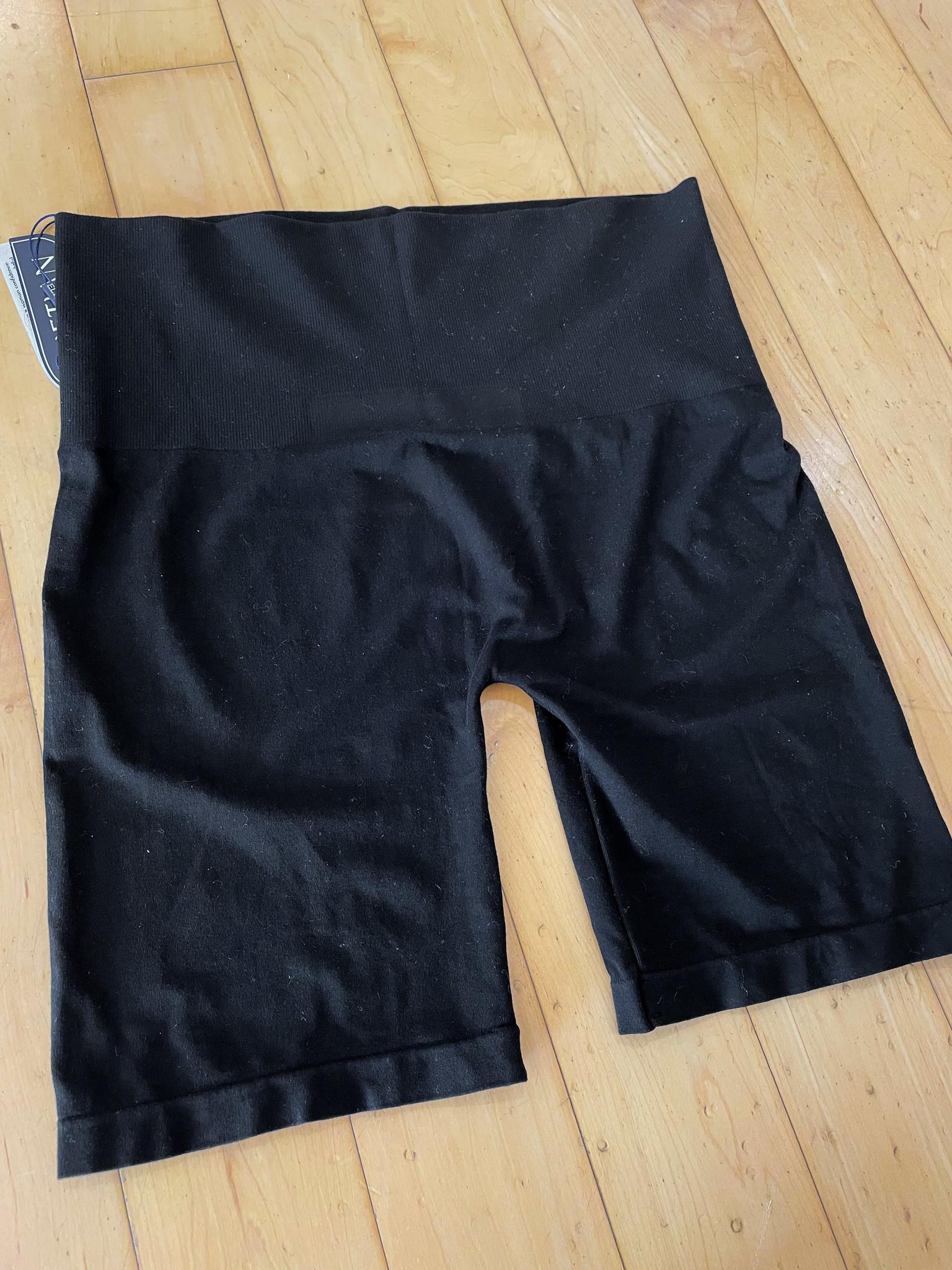 Black Extended Fit High Waist Tummy Control Biker Shorts