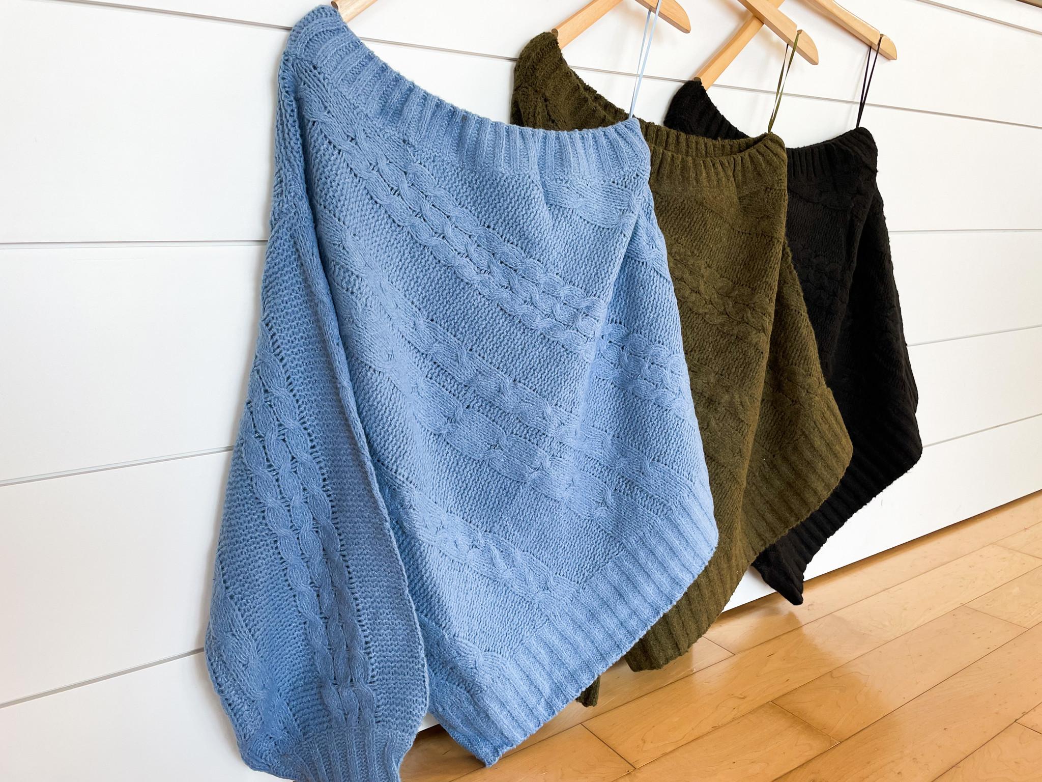 One Shoulder Twist Knit Sweater