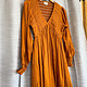 Butterscotch Dress w/ Smocked Bodice and Sleeves