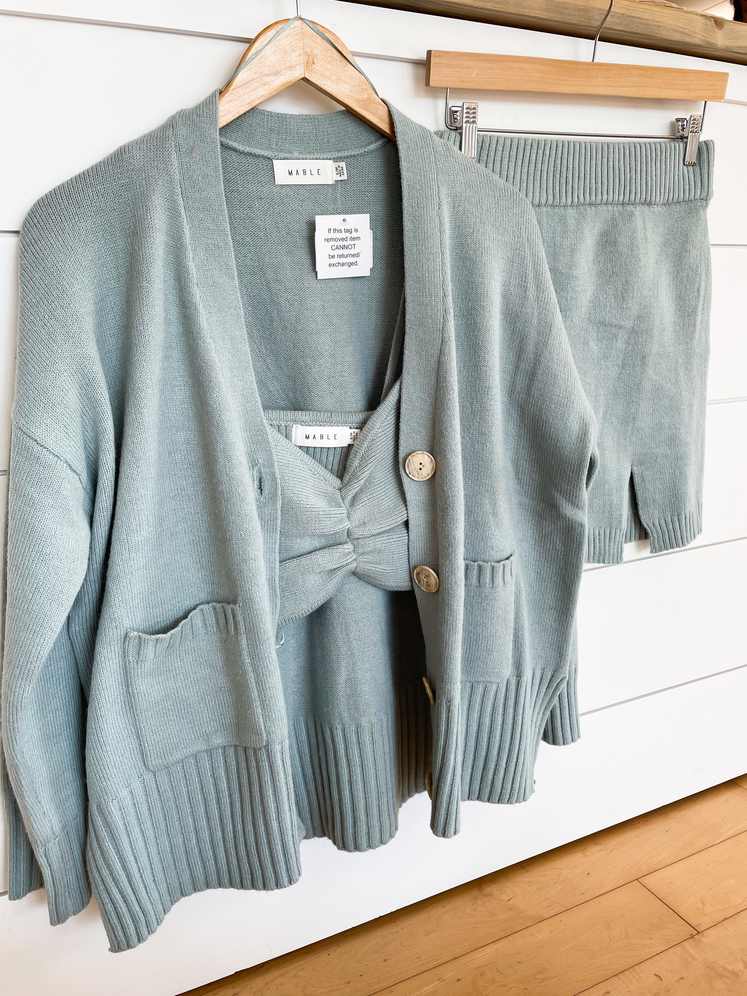 Mable Blue 3 Piece Sweater Set